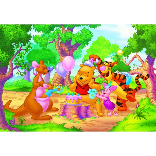 Puzzle Winnie the Pooh - ziua de nastere, 99 pcs.