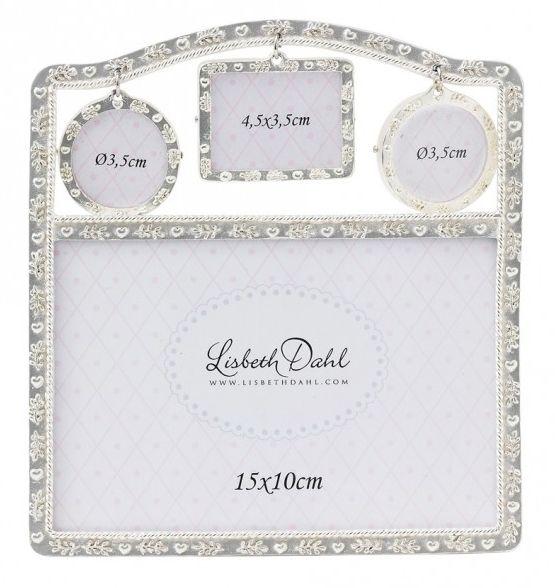 Rama foto Lisbeth Dahl, argintiu 4in1,15x10cm,101