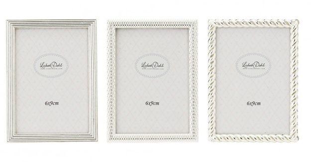 Rama foto Lisbeth Dahl,argintiu set 3 buc,6x9cm,116