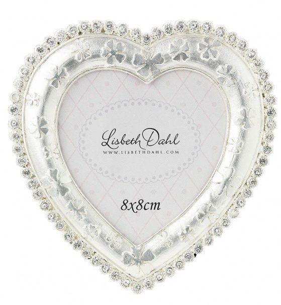 Rama foto Lisbeth Dahl,argintiu,forma  inima,8X8cm