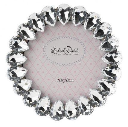 Rama foto Lisbeth Dahl,décor cu cristale,10x10cm,111