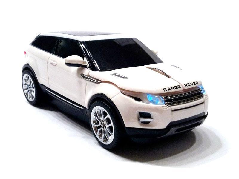 """Mouse Range Rover """"Evoque"""" cu fir,alb"""
