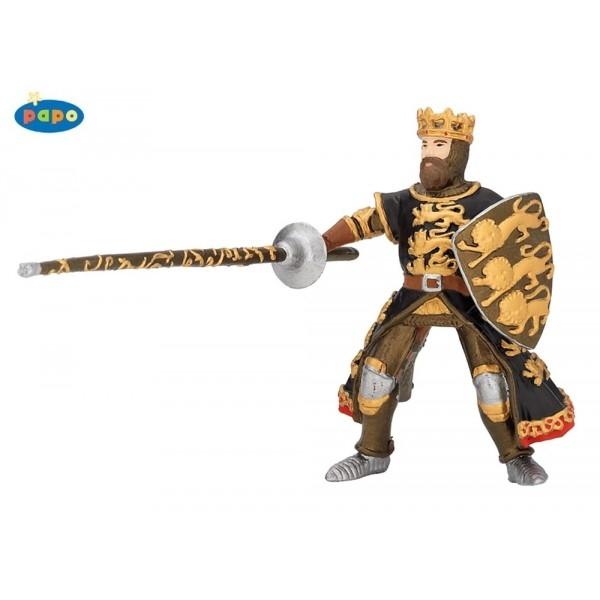 Regele Richard cu lance, negru-auriu