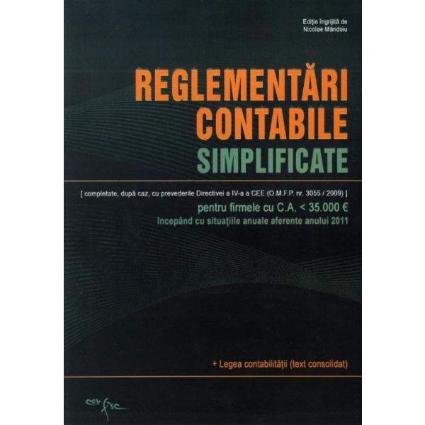 REGLEMENTARI CONTABILE SIMPLIFICATE 2011/2012