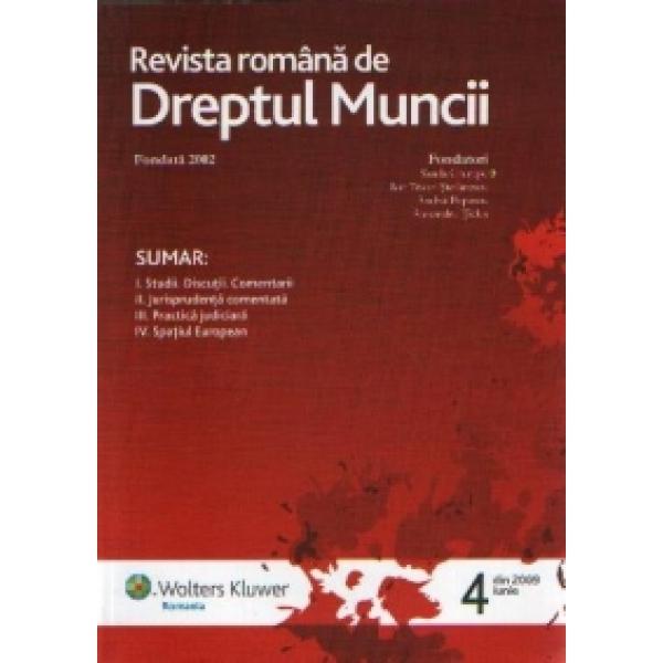 Revista romana de dreptul muncii, Nr. 4 / 2009, ***