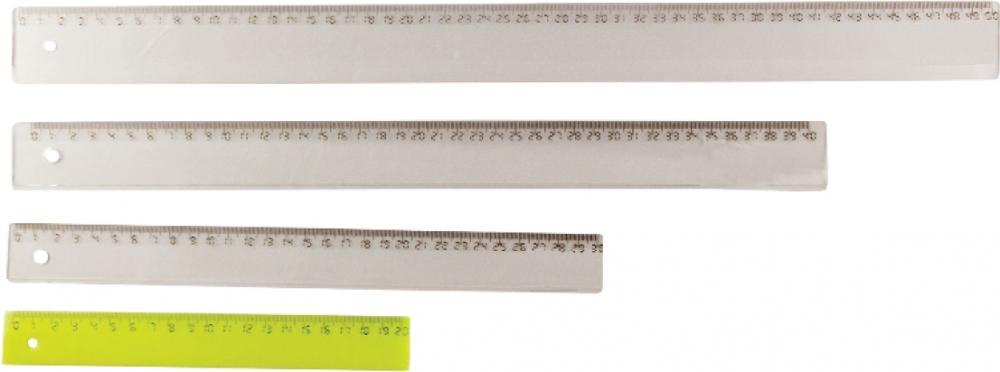 Rigla 50cm,plastic transparent