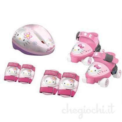 Role cu aparatoare si casca,gentuta,Hello Kitty,Mondo