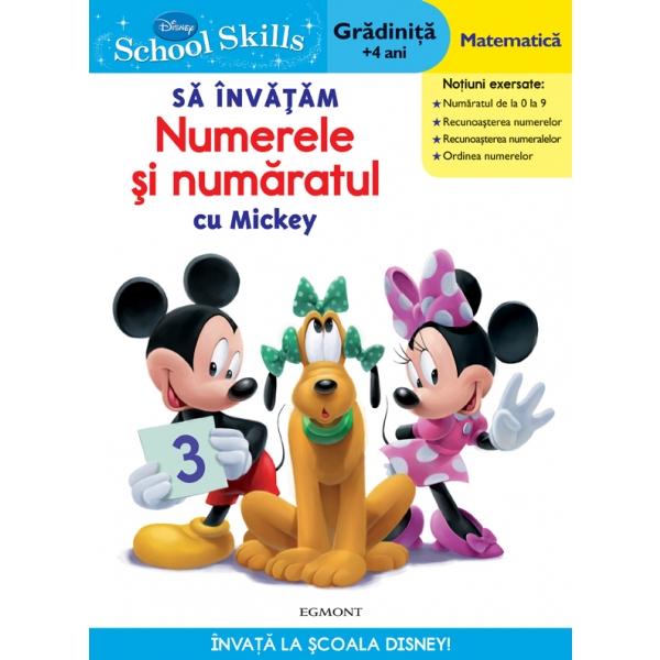 SCHOOL SKILLS +4 ANI - SA INVATAM NUMERELE SI NUMARATUL CU MICKEY