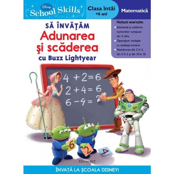 School skills + 6 ani - Sa invatam adunarea si scaderea cu buzz lightyear