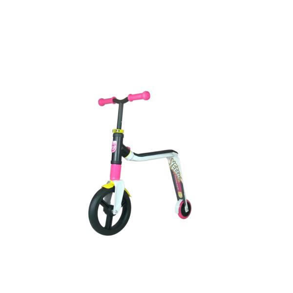 Scuter/bicicleta fara pedale,Highwayfreak,3A+,rosu/alb/galben