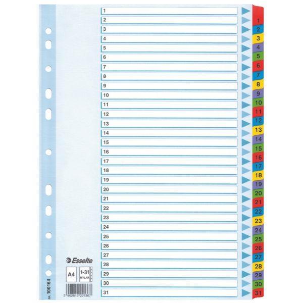 Separator,index colo r,Esselte,1-31,PP