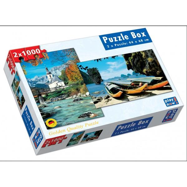 Set 2 Puzzle-uri Peisaje, 1000 piese