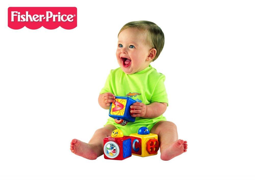Set joaca 3 cuburi magice Fisher Price