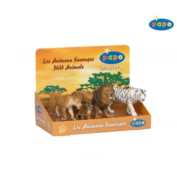 Set 4 animale salbatice - feline