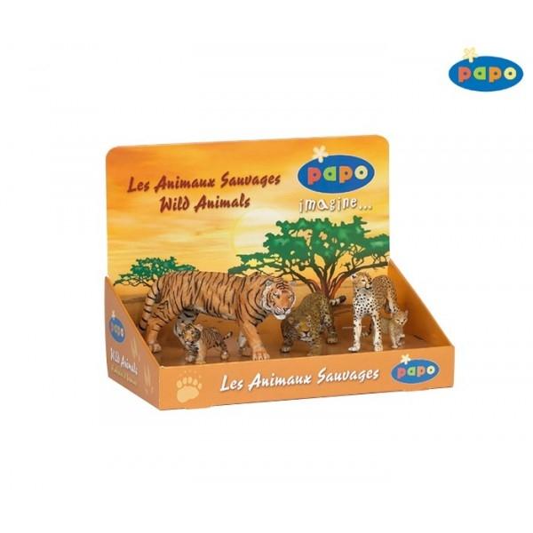 Set 5 animale salbatice - feline cu pui