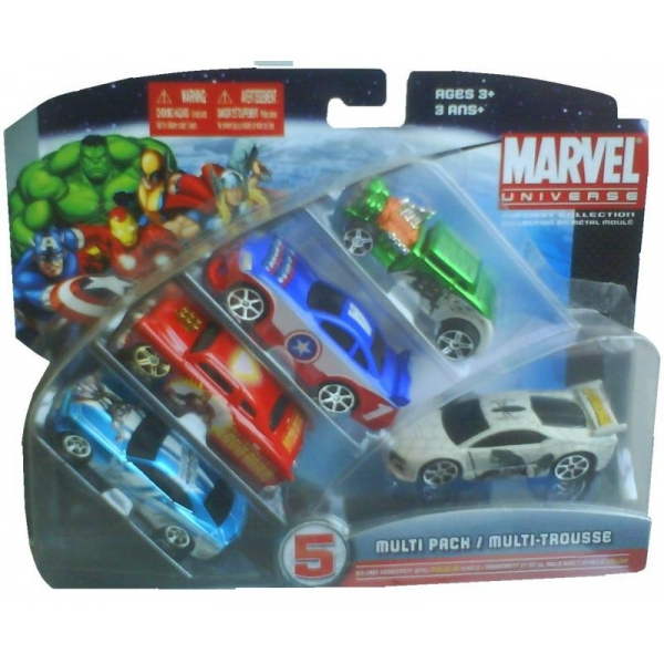 Set 5 masini Marvel Heroes 1:64