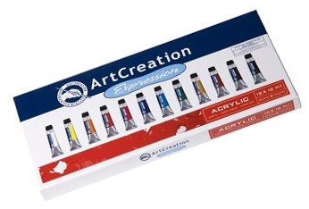 Set ArtCreation culori acrilice, 12x12ml