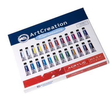 Set ArtCreation culori acuarela, 24x12ml