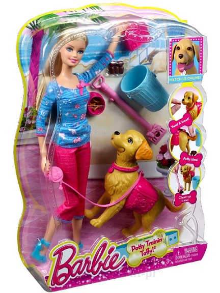 Set Barbie invata catelul la litiera