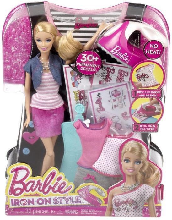 Set Barbie un nou look, papusa+accesorii