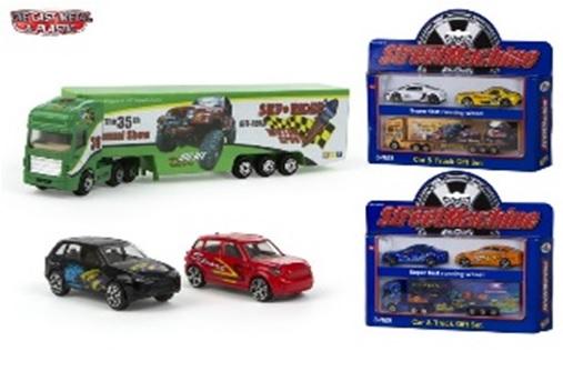 Set camion cu 2 masini,ColorBaby