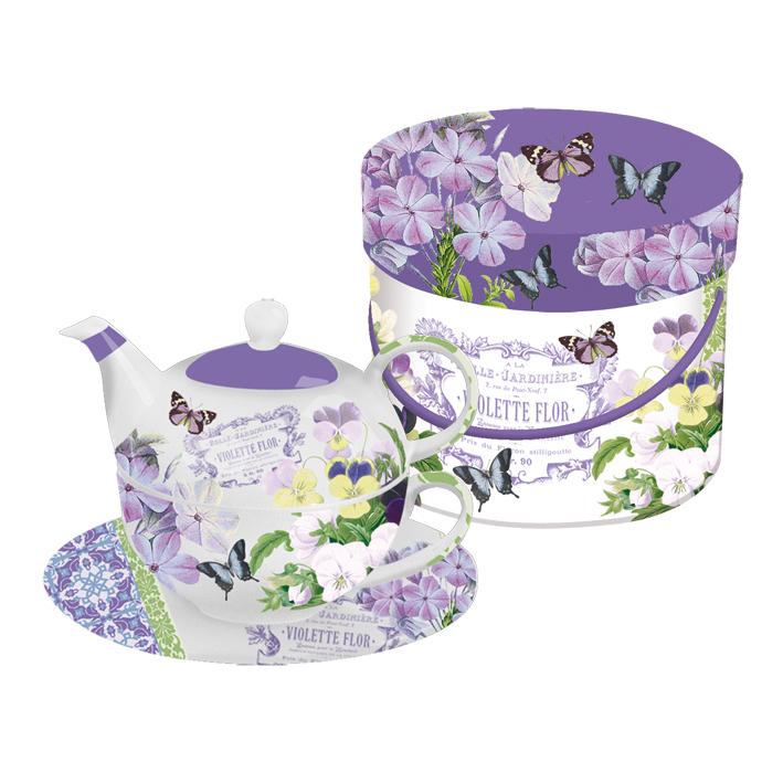 Set ceainic si ceasca,Vintage Violets