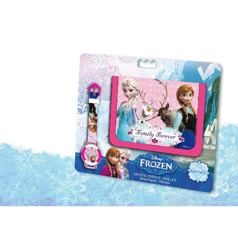 Set ceas mana+portofel,Frozen