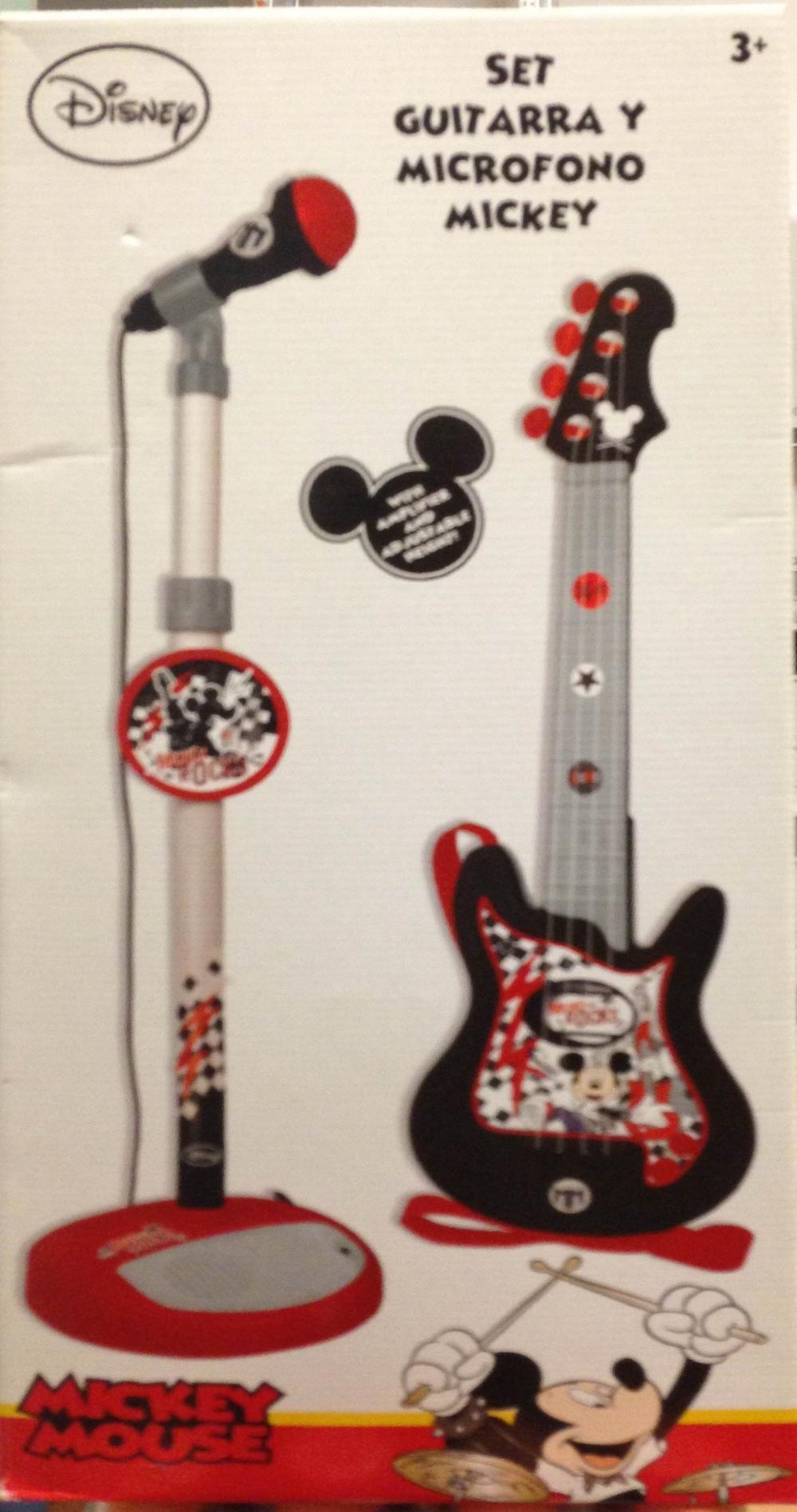 Set chitara cu microfon stativ, Mickey