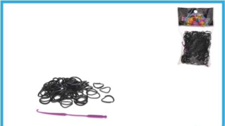 Set creare bratari,250elastice negru+carlig