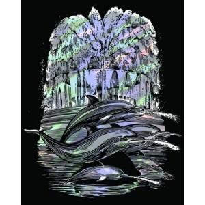 Set creativ gravura holografica - Fantana cu delfin