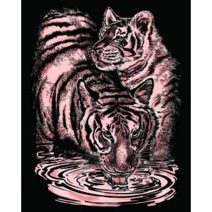 Set creativ gravura Tigri - aramiu