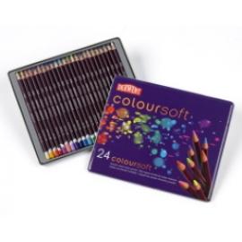 Set creioane Derwent Coloursoft 24buc