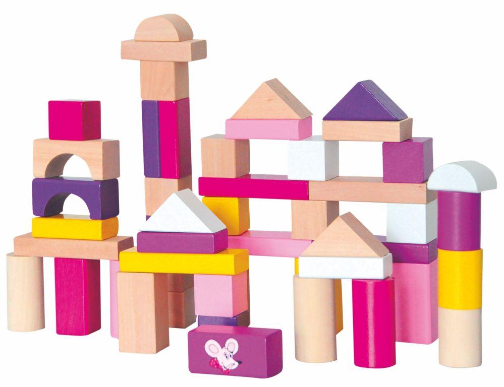 Set cuburi de lemn Trendy  50 pcs.