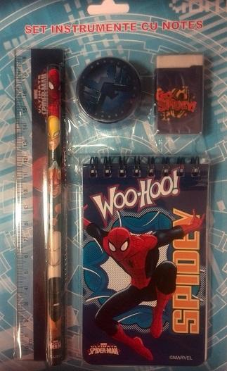 Set instrumente+notes Spiderman
