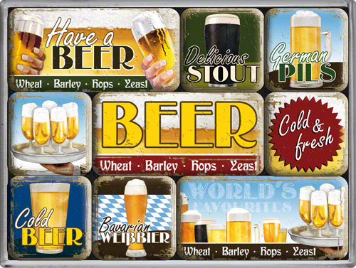 SET MAGNETI WORLD'S FAVOURITE BEERS