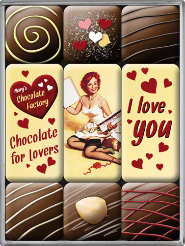 SET MAGNETI I LOVE YOU CHOCOLATE