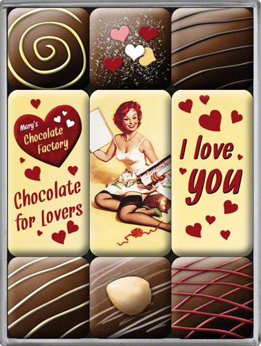 SET MAGNETI I LOVE YOU CHOCOLATE
