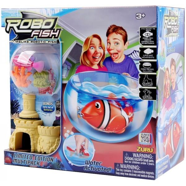 Set RoboFish cu acvariu
