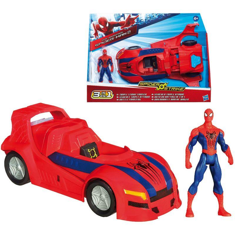 Set Vehicul 3 in 1 cu figurina Spider-Man