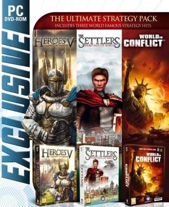 SETTLERS V & HEROES V & WORLD IN CONFLICT - PC