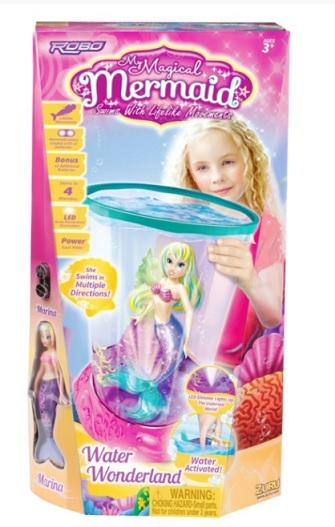 Sirena magica cu acvariu cu led