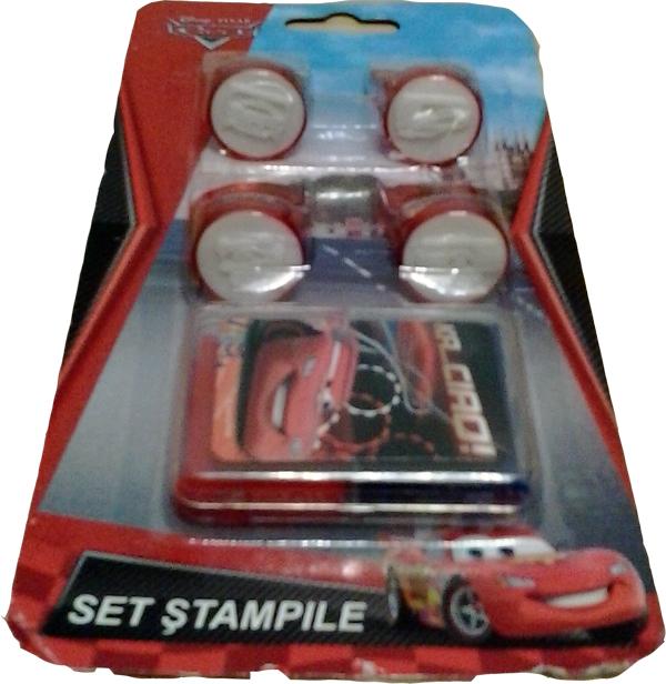 Stampile 4buc/set+tusiera,Cars