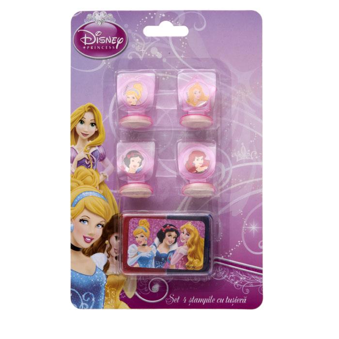 Stampile 4buc/set+tusiera,Princess