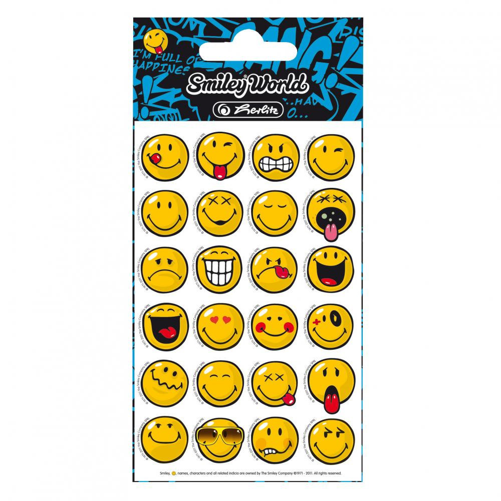 Stickere,24 buc/coala,Smiley