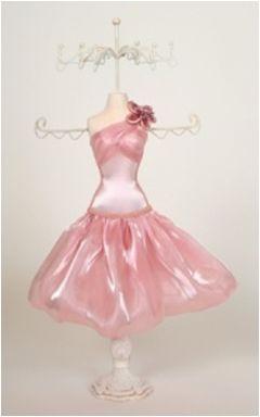 Suport Bijuterii Tip Manechin,roz stralucitor