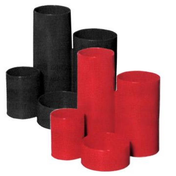 Suport instr.de scris 4 comp. cilindrice,negru