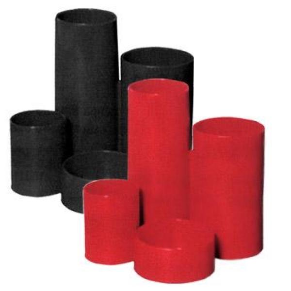 Suport instr.de scris 4 comp. cilindrice,rosu