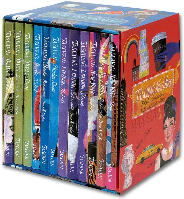 Taschen 4 cities, 12 vols. box