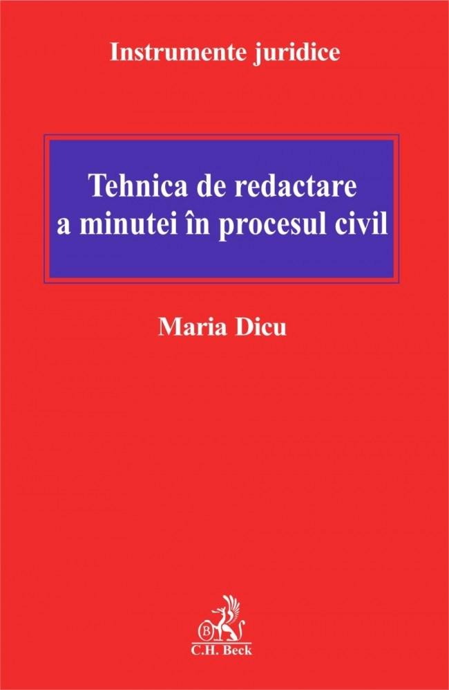 TEHNICA DE REDACTARE E A MINUTEI IN PROCESUL