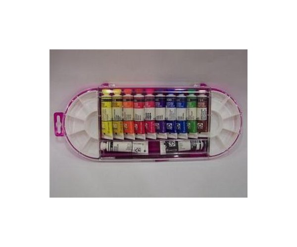 Tempera Morocolor,12ml/tub,12culori,pensula